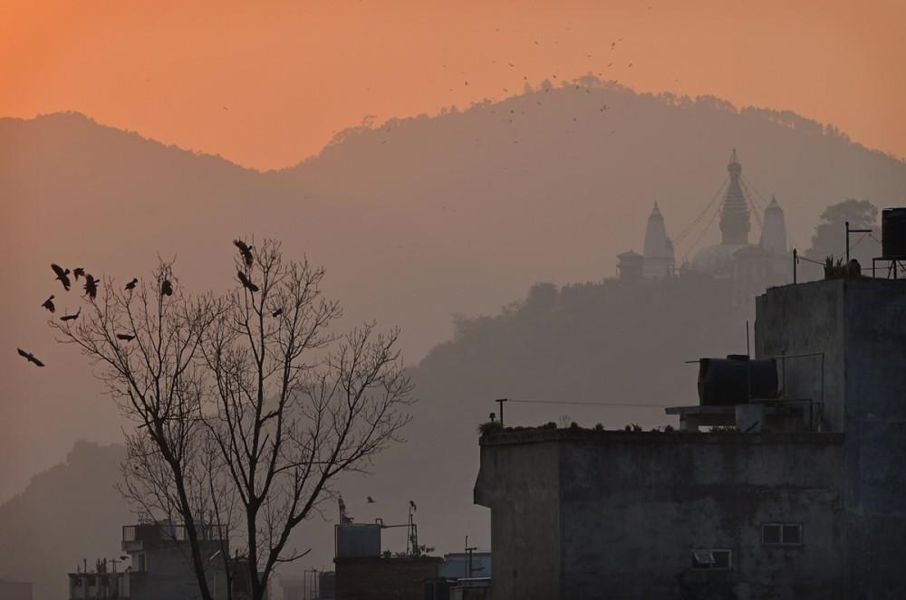закат в Катманду