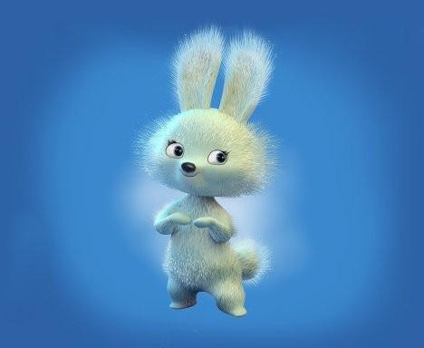 белый зайчишка