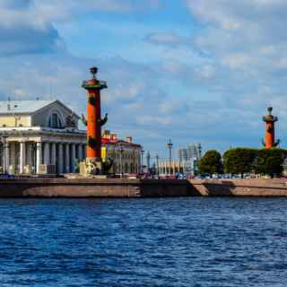 Rostral columns Saint-Petersburg