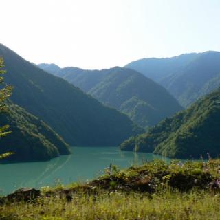 Jvari Enguri reservoir