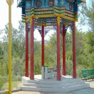 Ротонда и декоративно-скульптурное панно «Цвети, Калмыкия!»