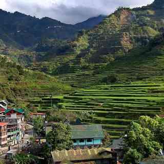 Рисовые террасы ифугао на севере филиппинского острова Лусон.