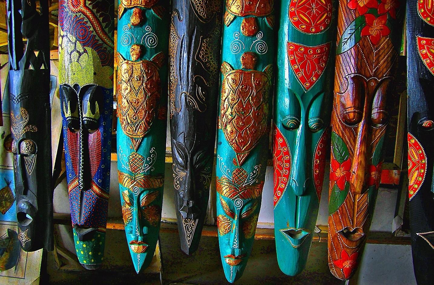 Балийские маски в городке Убуд.
