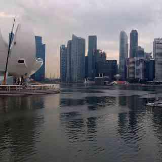 Сингапур на закате.