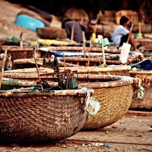 Традиционные вьетнамские рыбацкие лодки.