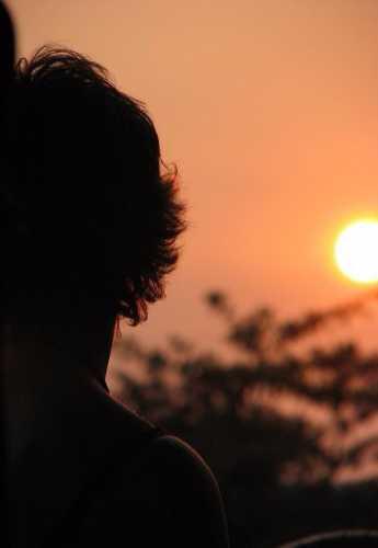 Закат на Меконге…