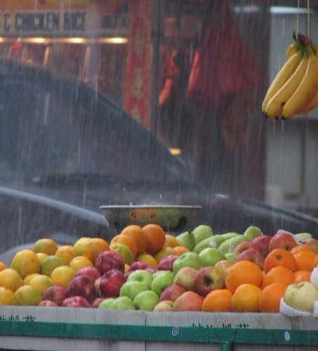 Тропический ливень в Куала Лумпур.