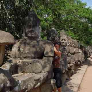По дороге из городка Сиемрип в Ангкор Ват.