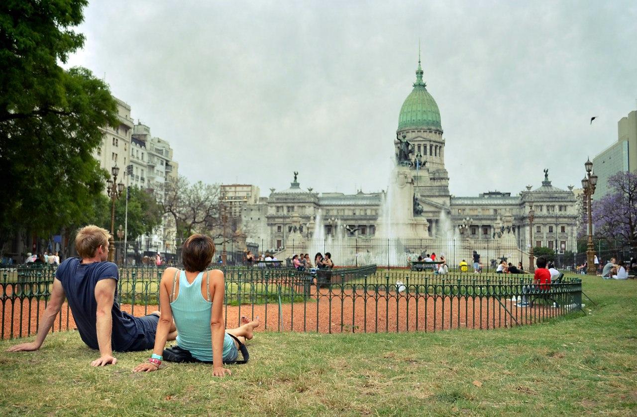 Обычный день в столице Аргентины Буэнос-Айресе.