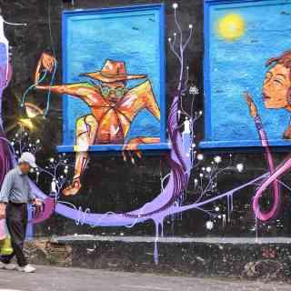 Уличное искусство в японском квартале Сан Паулу.
