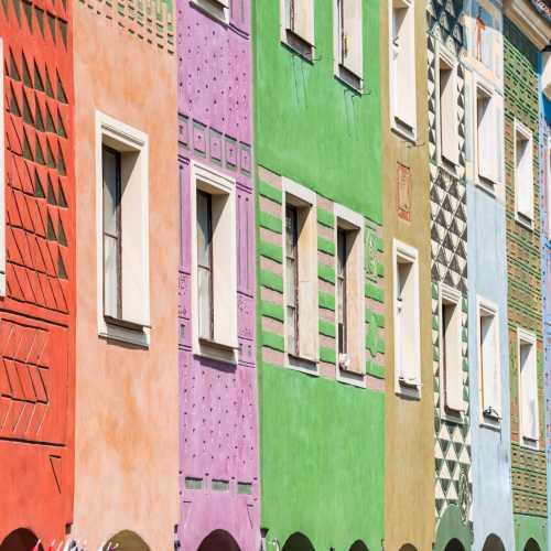 Цветные домики на главной площади Познани.