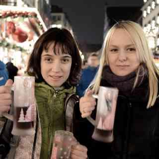 Предрождественский глинтвейн в Мюнхене.