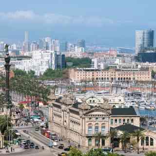 Вид на Барселону сверху.