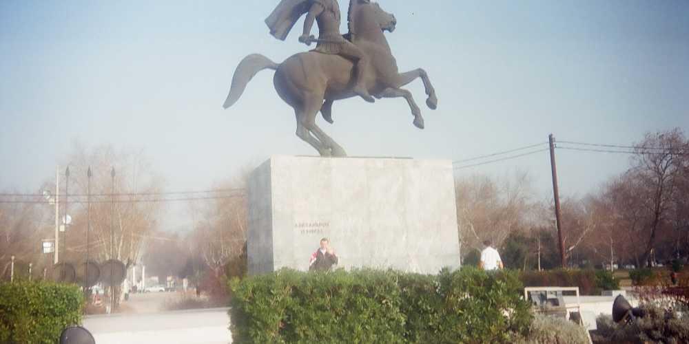 Салоники, памятник Александру Македонскому