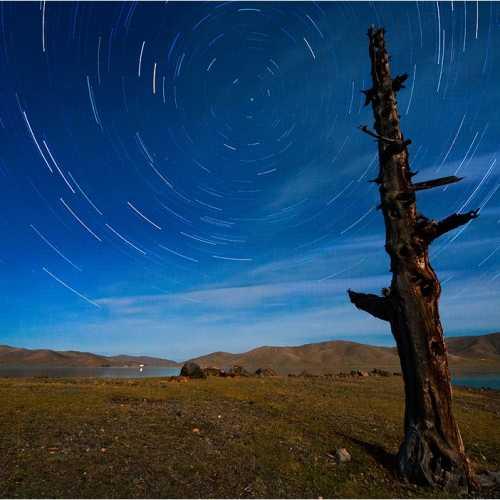 Ночь над озером Зуун Нуур