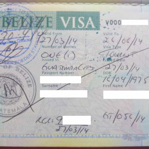 Visa to Belize