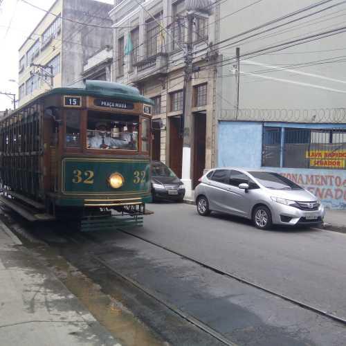 Tourist tram in Santos (Brazil)
