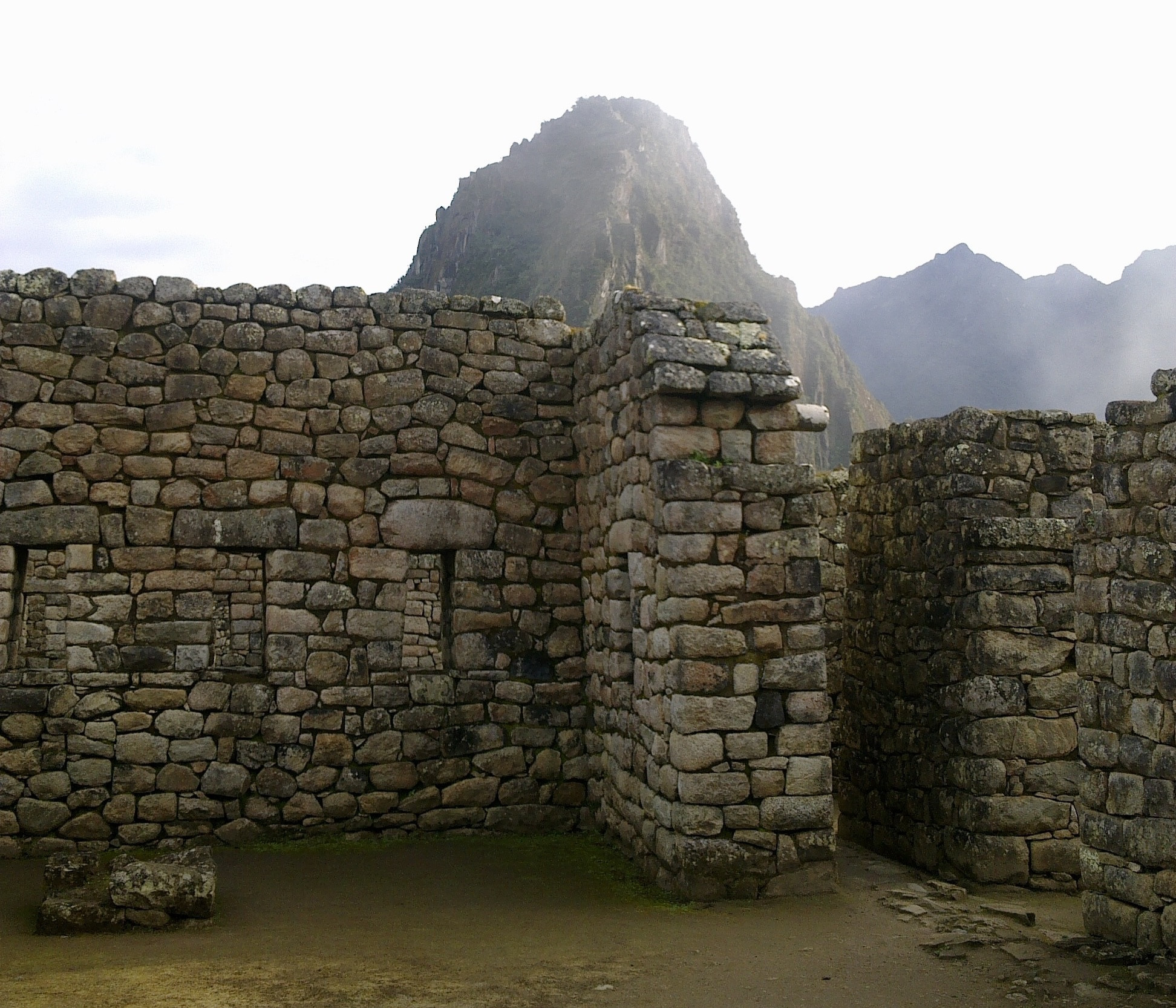 Machu Picchu in fog (Peru)
