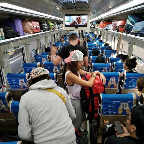 train from Yogyakarta to Surabaya (Indonesia)