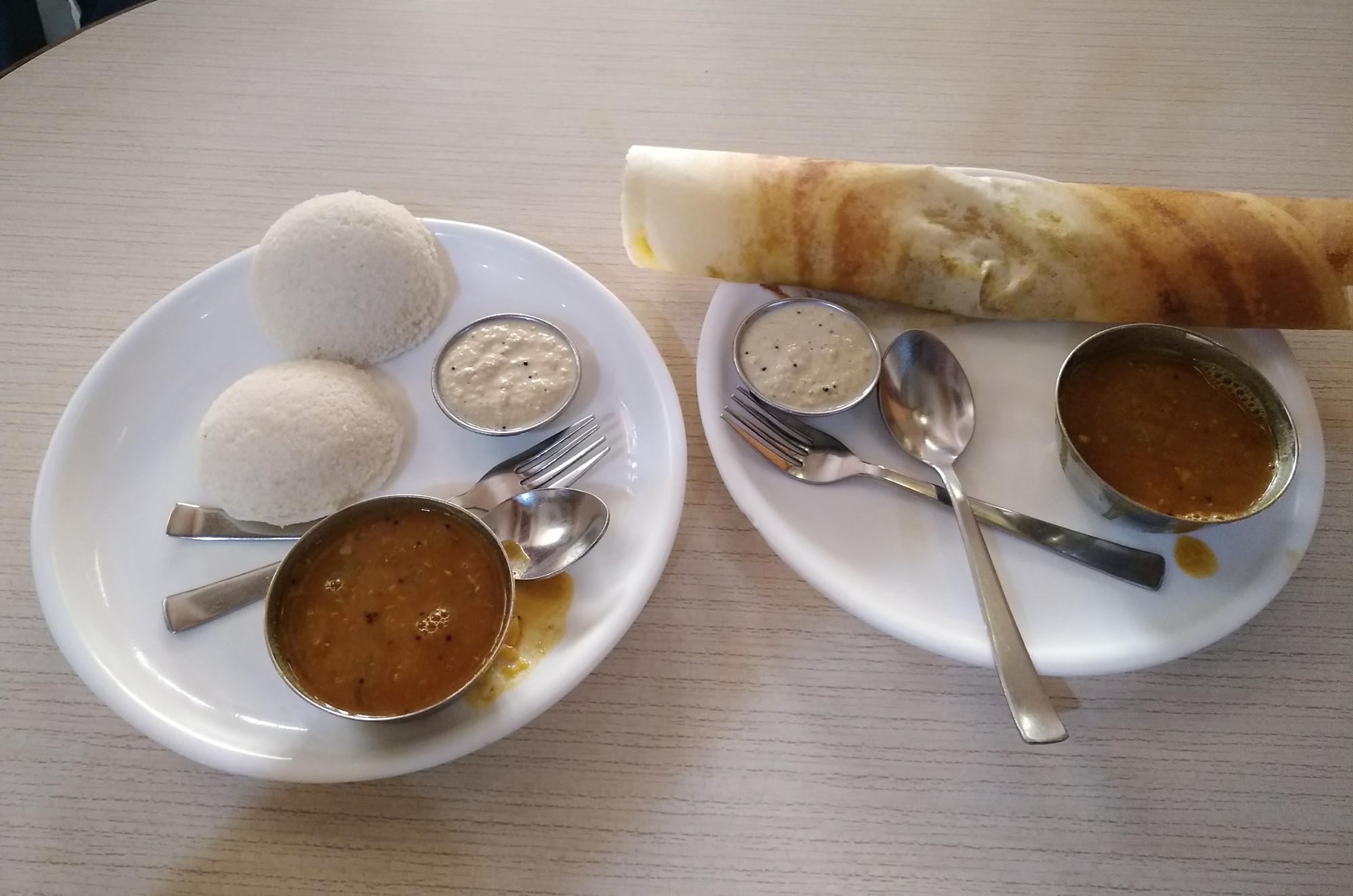 Idli and dosa (Amritsar, India)