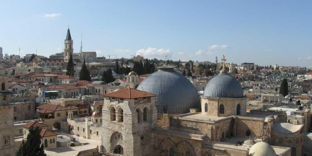 Иерусалим.На первом плане Храм Гроба Господня