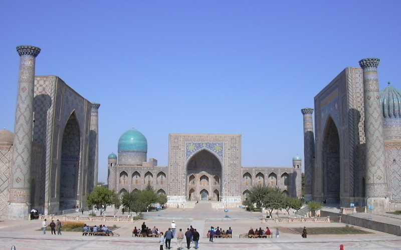 Площадь Регистан.Самарканд.