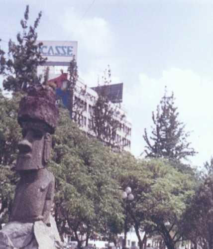 Статуя Моаи с острова Пасхи в Сантьяго, Chile