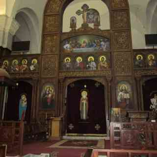Интерьер собора Св. Шенода в Хургаде