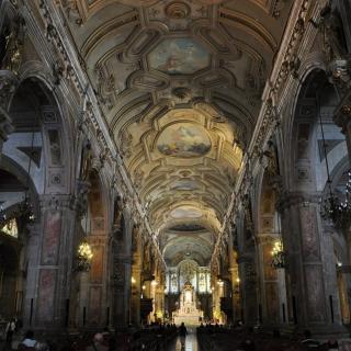 Чили. Сантьяго. Интерьер кафедрального Успенского собора.