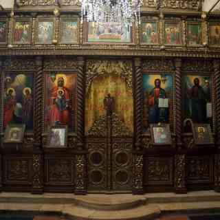 Иерихон. Иконостас храма Искушения на горе Каранталь
