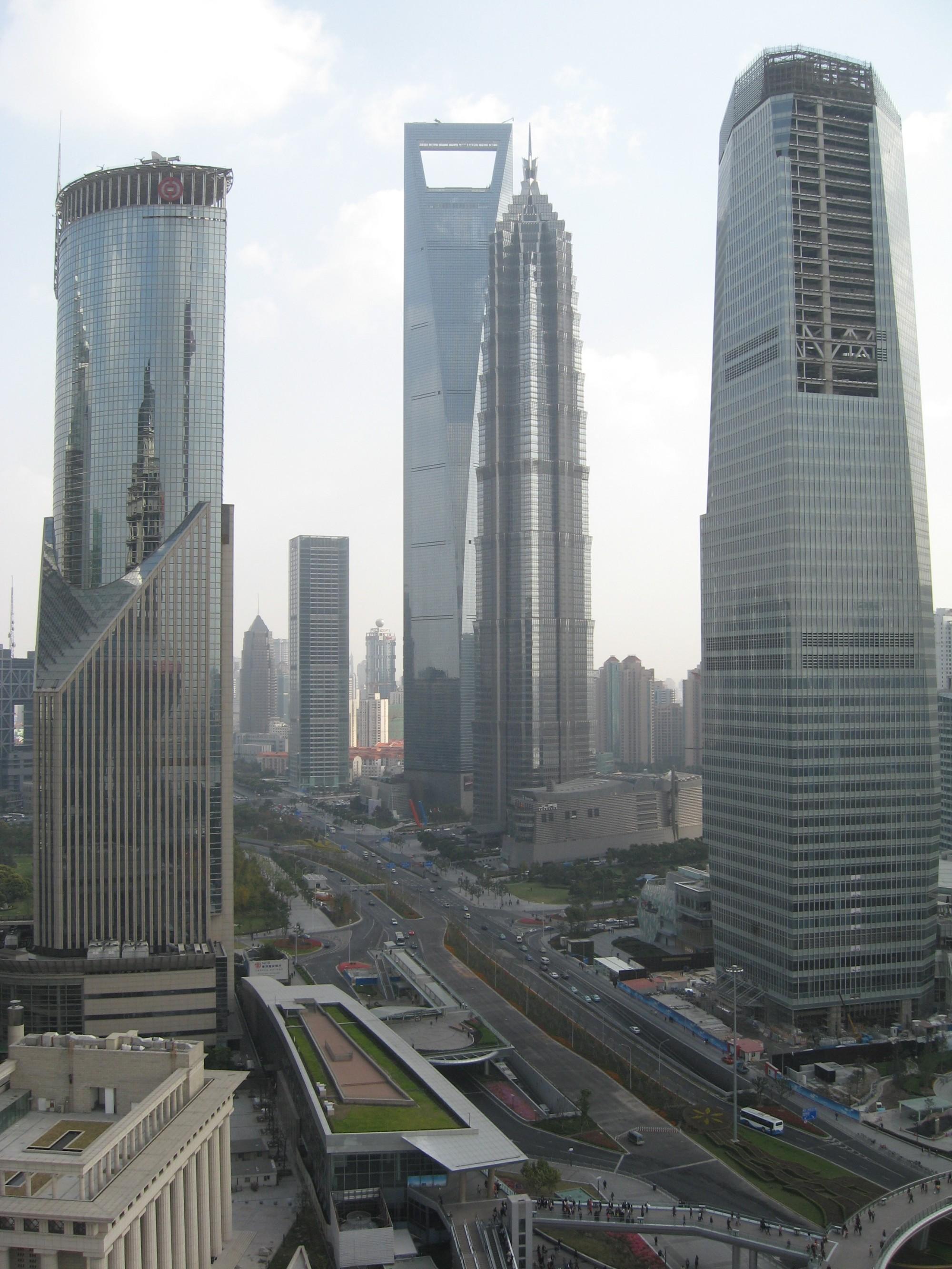 Шанхай, вид с 350 м