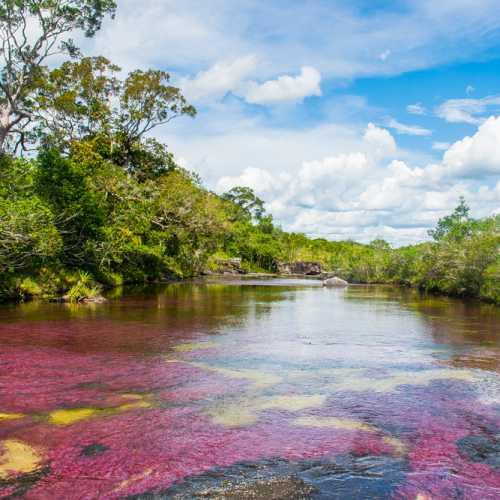 Сочетание неба и реки — лучшее сочетание в пейзажах! А когда река цветная и небо в облаках и солнечно — ну тут уже сам Бог дизайн сварганил )