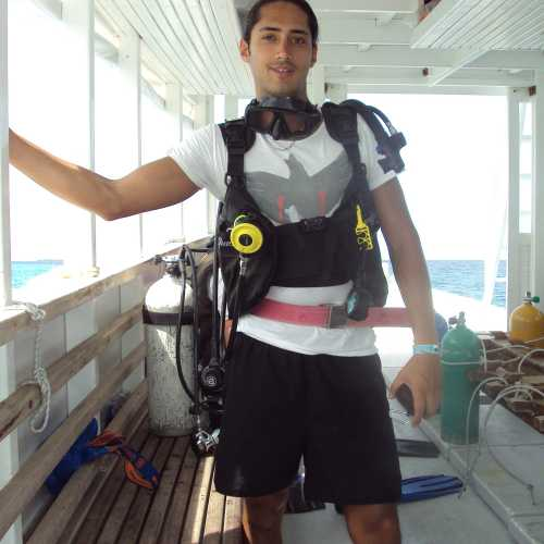 My first scuba diving experience.
