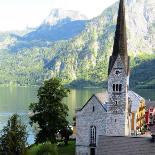 Lutheran church (Village Hallstatt, Austria)