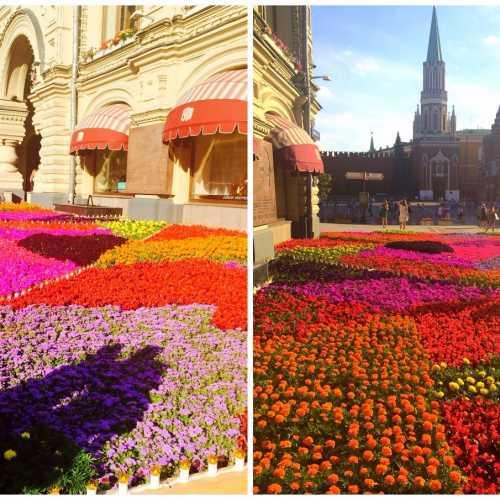 Парад цветов в ГУМе