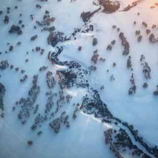 «Манная каша с изюмом», ну или пейзаж возле Новосибирска с высоты набирающего высоту самолёта. Пока, малая Родина!