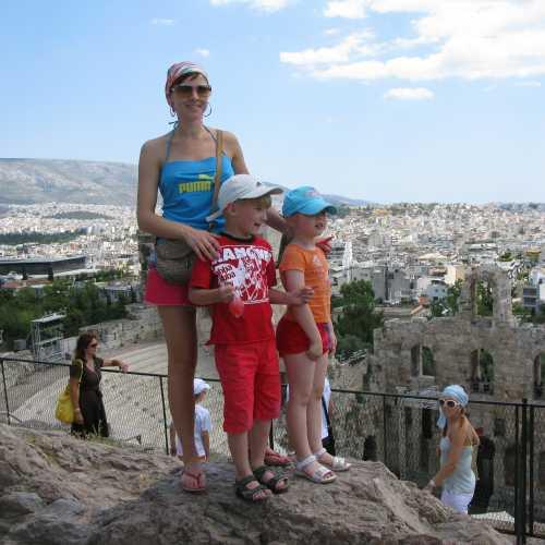 Вид с Акрополя на Афины