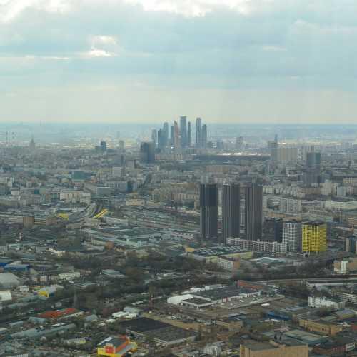 Москва с Останкинской телебашни.