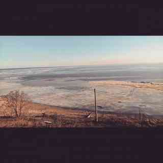 Таганрогский залив замерз