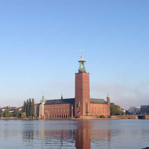 Стокгольмская ратуша)Красиво светится ночью.