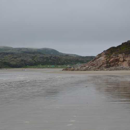 Териберка. Песчаный пляж.