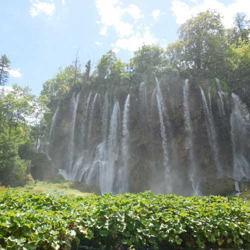 Водопады на Плитвицких озерах.