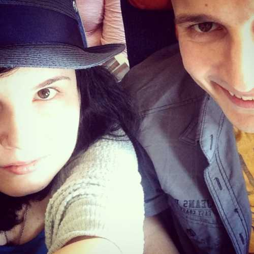 в самолёте до Нью-Йорка, 2014