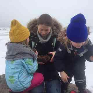 Полярники встретили пингвина и подманили его на именинный кекс! (Или это пингвин их подманил?)
