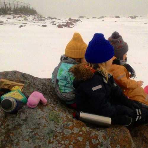 Полярники перекусывают перед открытием Южного полюса