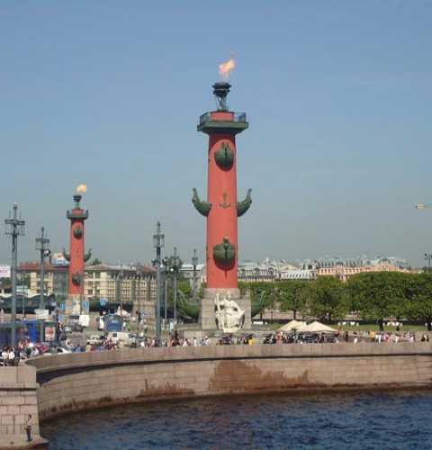 Rostral columns Saint-Petersburg, Russia