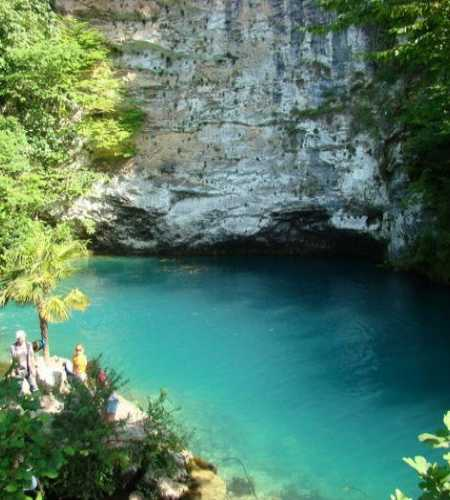Blue lake Abkhazia, Abhazia