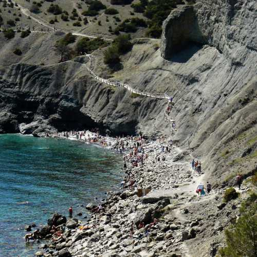 Синяя бухта (Разбойничий пляж (пиратский)), Crimea