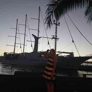 Wind Spirit in Papeete port
