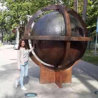Юрмала. Нам повезло — самый знаменитый глобус Юрмалы вернули к нашей поездки после реставрации.